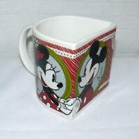 Disney Ceramic 8 oz. Mickey & Minnie Mouse Half Moon Mug Cup 2011