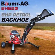 Baumr-AG 9HP 4-Stroke Hydraulic Bucket Towable Petrol Backhoe