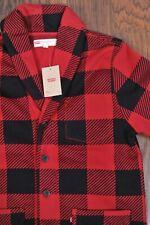 NWT Levi's Trouss Buffalo Check Plaid Blazer Jacket Red Men's Large L