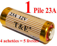 1 Pile Alcaline 23A MN21 A23 V23GA LRV08 L1028 LR23A E23 V23A 12V (FIN 2023) 4=5