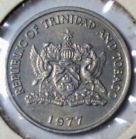 TRINIDAD & TOBAGO 25 Cents km 32 nice AU coin