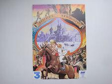Prospectus ancien catalogue dessin animé Michel Strogoff France 3 IDDH