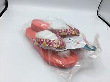 Lindsay Phillips SwitchFlops LuLu Size 8 Interchangeable Flip Flop Orange