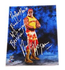 WWE HULK HOGAN HAND SIGNED PHOTO FILE PHOTO W/ INSCRIPTION AND PROOF 2