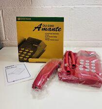 Daewoo Telecom Amante DU-2340 Red Telephone Retro