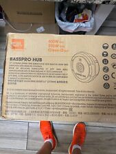 """JBL BassPro 11"""" Spare Tire Subwoofer with Built-In Amp + Remote"""