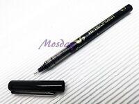 6 x Pilot Hi-Tecpoint V7 Needle Tip 0.7mm Fine Roller Ball Pen, BLACK