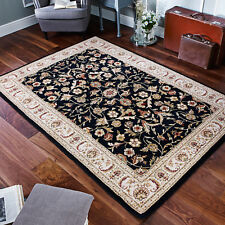 Brook Lane Rugs Royal Classic Black Area Rug Runner 68 X 235cm