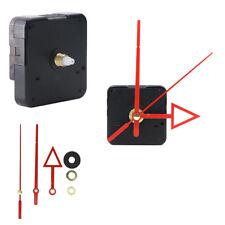 Non-ticking Silent Mute Quartz Clock Movement Mechanism Motor Red Metal Hands