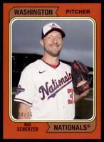 2020 Archives Base Red #163 Max Scherzer /75 - Washington Nationals