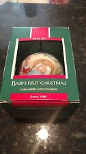 1989 Hallmark Baby's First Christmas Boy Commemorative Ball Ornament NIB NEW