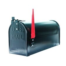 Mailbox Post Mounted Mail box Traditional Curbside T1 Rural Mailboxes Black