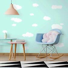 Adesivi Murali riutilizzabili Jomoval RoomMates nuvole bianche per la Camera