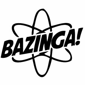 The Big Bang Theory BAZINGA funny novely sticker graphic  Vinyl Decal Car Wall