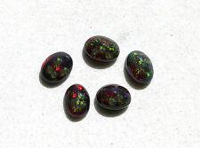ONE 7x5 7mm x 5mm Oval Ethiopian Brown Black Opal Cab Cabochon Gem Gemstone T1A5