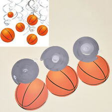 12Pcs PVC Basketball Spiral Swirl Banner Baby Shower Kids Party Decoration