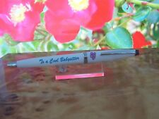 """ TO A COOL BABYSITTER""  CROSS BALLPOINT  PEN VINTAGE FREE SHIP"