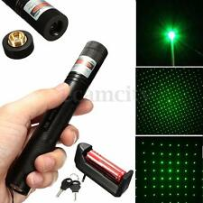 303 1mw 532nm Verde Laser Puntatore Penna Regolabile +Star Luce Cap+Batteria t1