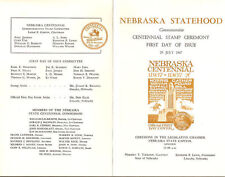 #1328 First Day Ceremony Program 5c Nebraska Centennial Stamp