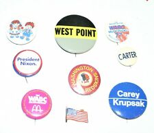 Lot of 9 Vintage Pinbacks Pins, Political, Sports Humor, Other