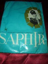 RAR Vintage Saphir Nylons Nylonstrümpfe Gr. 10 braun Perlonstrümpfe Bas OVP