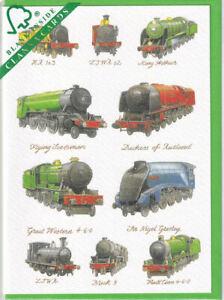 Great British Steam Trains Greetings Card birthday Richard Partis Clanna Cards