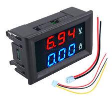 Voltmetro e amperometro digitale da pannello con display rosso/blu  ** ITALIA **
