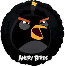 """ANGRY BIRDS BALLOON 18"""" BLACK BIRD BOMB ANGRY BIRDS PARTY SUPPLIES FOIL BALLOON"""