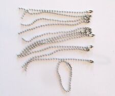 Wholesale Lot of 100 Silver Tone Ball Chains for DIY Keychains! 4 inches