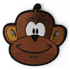 Embroidered Cute Happy Monkey Iron on Sew on Kids Patch