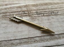 Arrow Pendants Charms-Antiqued Bronze Pendants-60mm-5pcs Large Arrow Archery