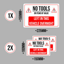 No Tools Left In This Vehicle Stickers (Pack of 3)