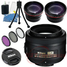 Nikon AF-S DX 35mm f/1.8G SLR DIGITAL Lens + Wide angle & Telephoto Lens + More