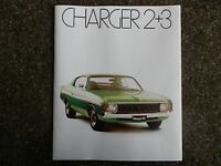 CHRYSLER VALIANT CHARGER 1974 VJ BROCHURE PLUS COLOUR CHART 100% GUARANTEE.