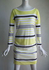 WHITE Label Atheleisure Stripe Long Sleeve Ruched Dress S NWT $138 Style