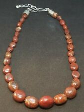 JAY KING Mine Finds DTR Sterling Silver Graduated Jasper Bead Necklace