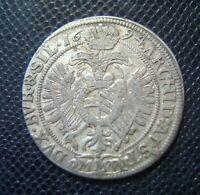 AUSTRIA / LEOPOLD I. / SILVER 15 KREUZER 2./ 1694 MMW