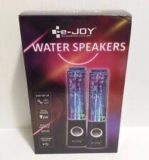 NEW e-JOY Music Dancing Water Speakers Dancing Water Fountain Speakers Black