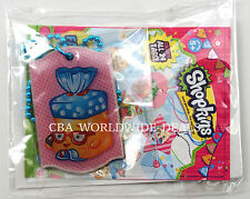 NEW Shopkins Collectible Fashion Tags Necklace - Bread Head - Blue Beads