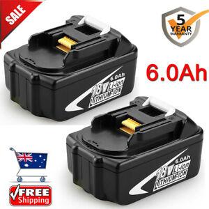 2x For Makita 18V 6.0Ah BL1860B BL1850 BL1830 BL1860 BL1840B LXT Li-ion Battery