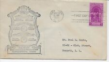 US Scott #854, First Day Cover 4/30/39 New York Single Washington Inauguration