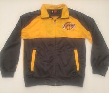 🔴Majestic NBA Los Angeles Lakers Gold/yellow Gray Jacket Size Large Youth