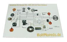 Schaltplan pas für Simson S51 S50 S70 Vape Zündung Kabelplan A3 KultMopeds
