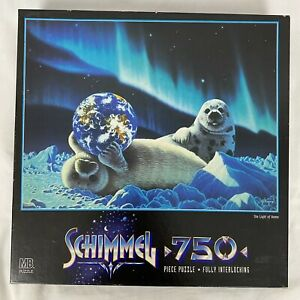 Vintage 90s Schimmel Puzzle The Light of Home Seals Earth 750 pcs 18 x 24