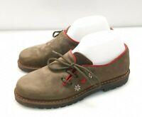 V14) Luxus Südtiroler Schuhe Damen Trachtenschuhe Gr.38 Italy Leder