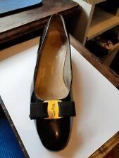 Salvatore Ferragamo Vara 8 (EUR38) Black Patent Leather