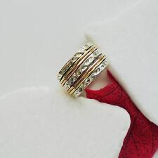 Bandring Ring Design Kupfer vergoldet modern Ø 18,25 mm 925 Sterling Silber neu