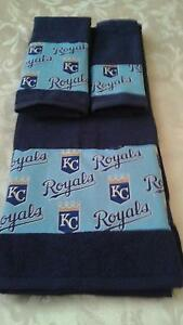 Kansas City Royals MLB 3 Piece Bath Towel Set Handmade  Great Gift!!