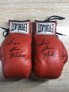 Sugar Shane Mosley Signed Boxing Gloves Autographed  Red Everlast