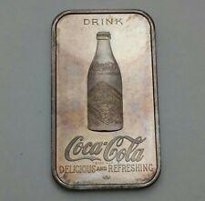 1976 COCA COLA 75TH ANNIVERSARY - 1 oz .999 SILVER ART BAR - LOUISVILLE, KY